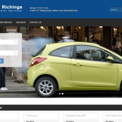 Website design for Martin Richings Car Sales based in Chipping Sodbury
