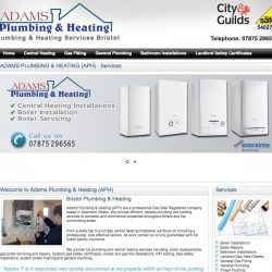web design for plumbers in Bristol