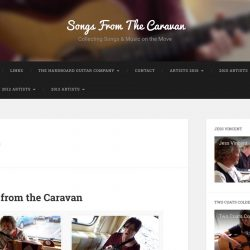 Website Design for Songs from the Caravan