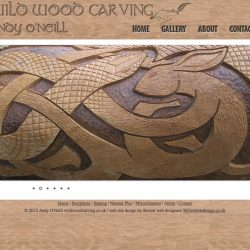 website design for woodworking artist