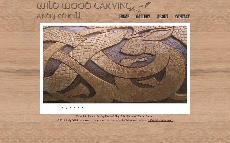 website design for woodworking artist